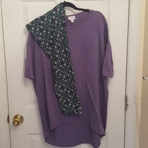 Lularoe Outfit TC Leggings and Irma Shirt Outfit